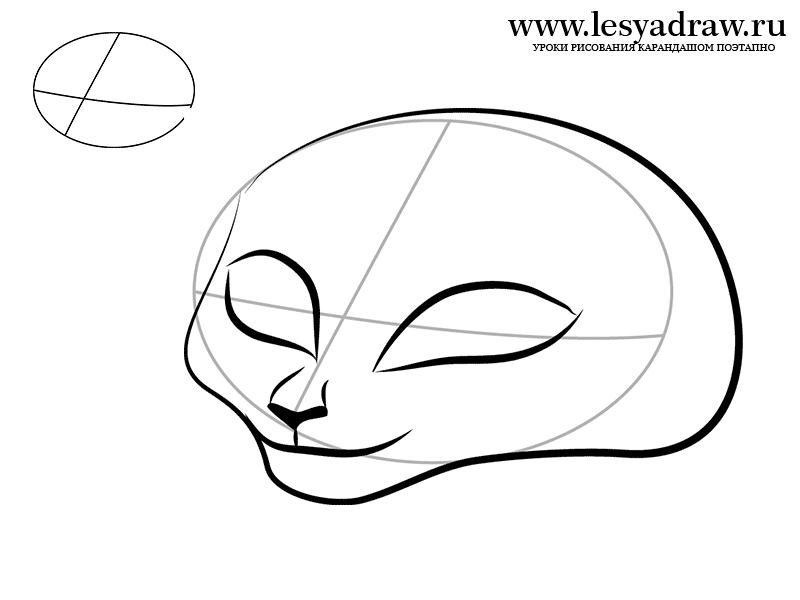 Как нарисовать ягуара Джиа из Мадагаскара 3 карандашом поэтапно