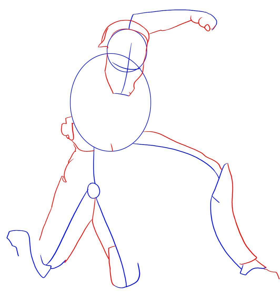 Рисуем лего железного человека - шаг 2