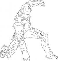Железного Человека на бумаге карандашом