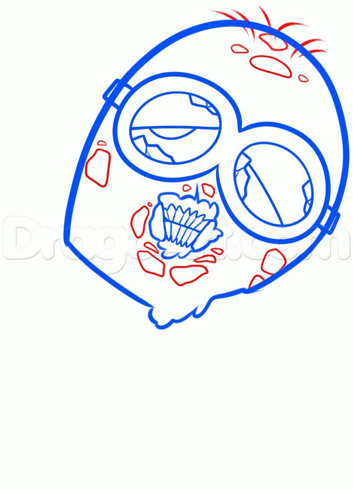 Рисуем зомби миньона