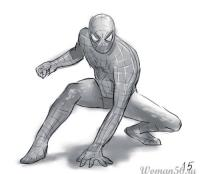 Человека Паука карандашом