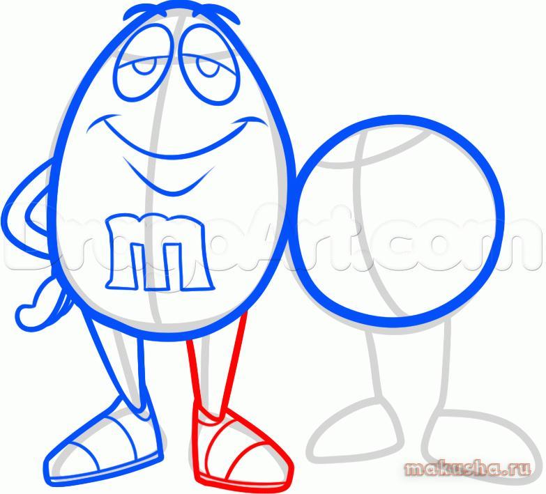 Как рисовать m m s на бумаге карандашом