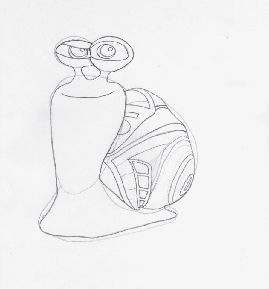 Как рисовать Турбо на бумаге карандашом поэтапно