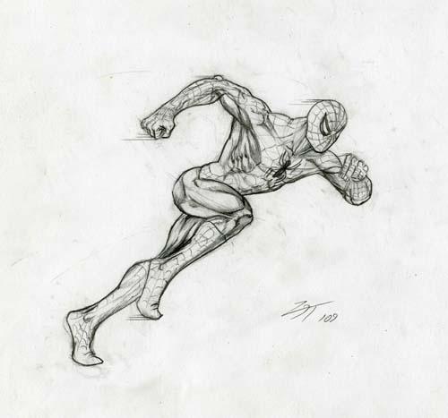 Человек-паук в БЕГЕ урок рисования - шаг 8