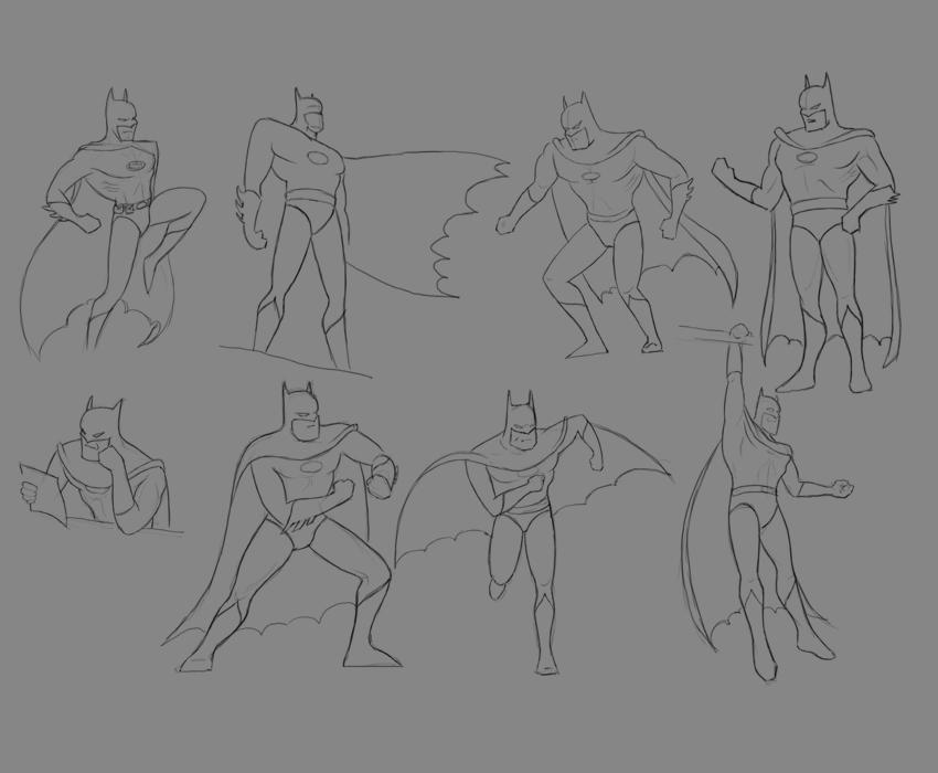 Учиться рисовать Бэтмена - шаг 7