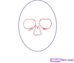 Как рисовать черепа карандашами - шаг 2