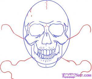 Как рисовать черепа карандашами - шаг 6