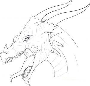 Только рисунки драконов карандашом 5