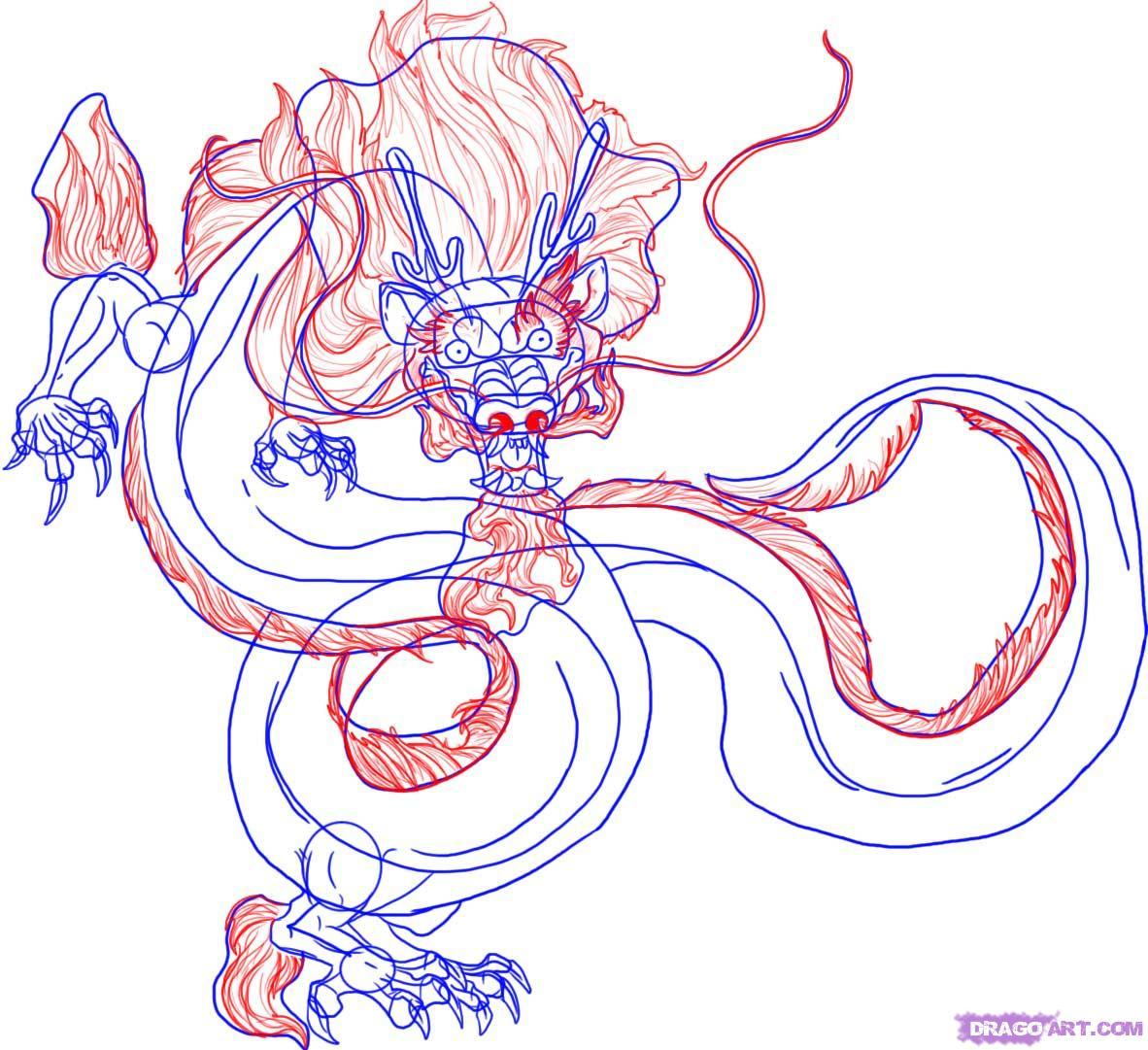 Как нарисовать традиционного Китайского Дракона. *