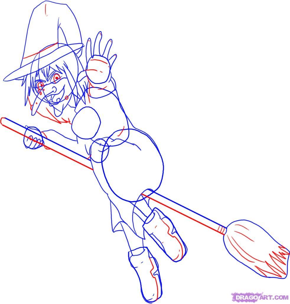 Как нарисовать ведьму поэтапно