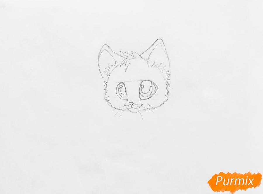 Рисуем аниме барсёнка с крыльями - шаг 3