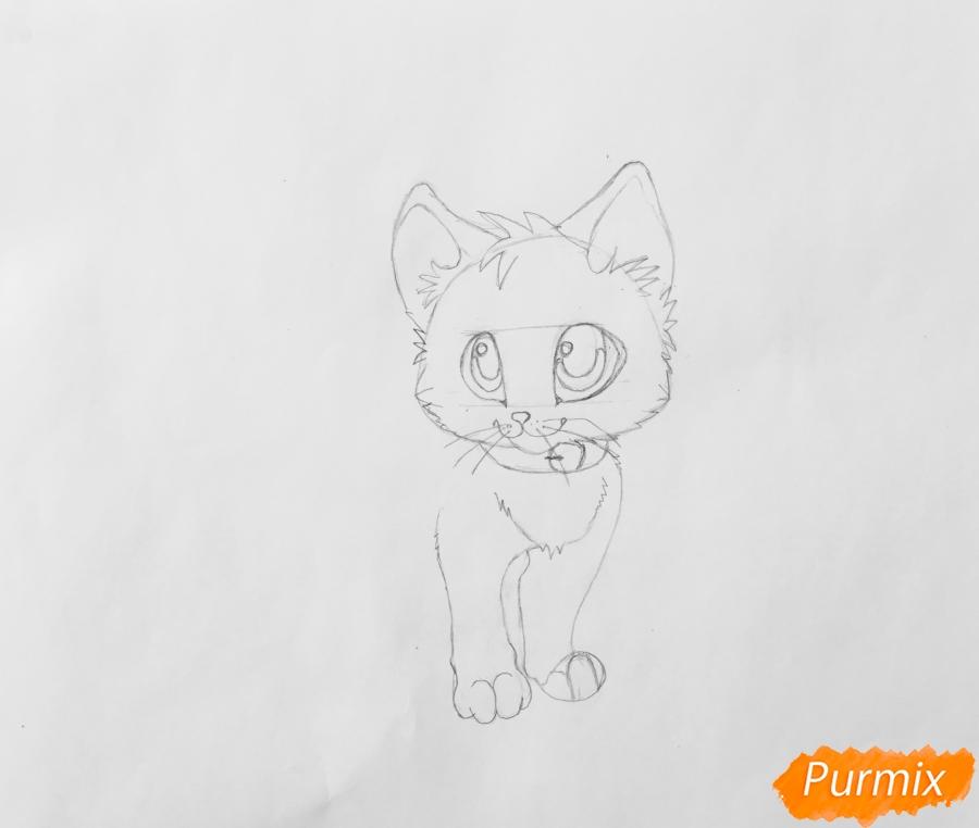 Рисуем аниме барсёнка с крыльями - шаг 4
