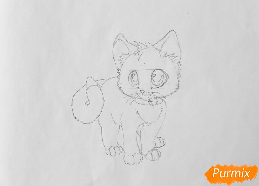 Рисуем аниме барсёнка с крыльями - шаг 5