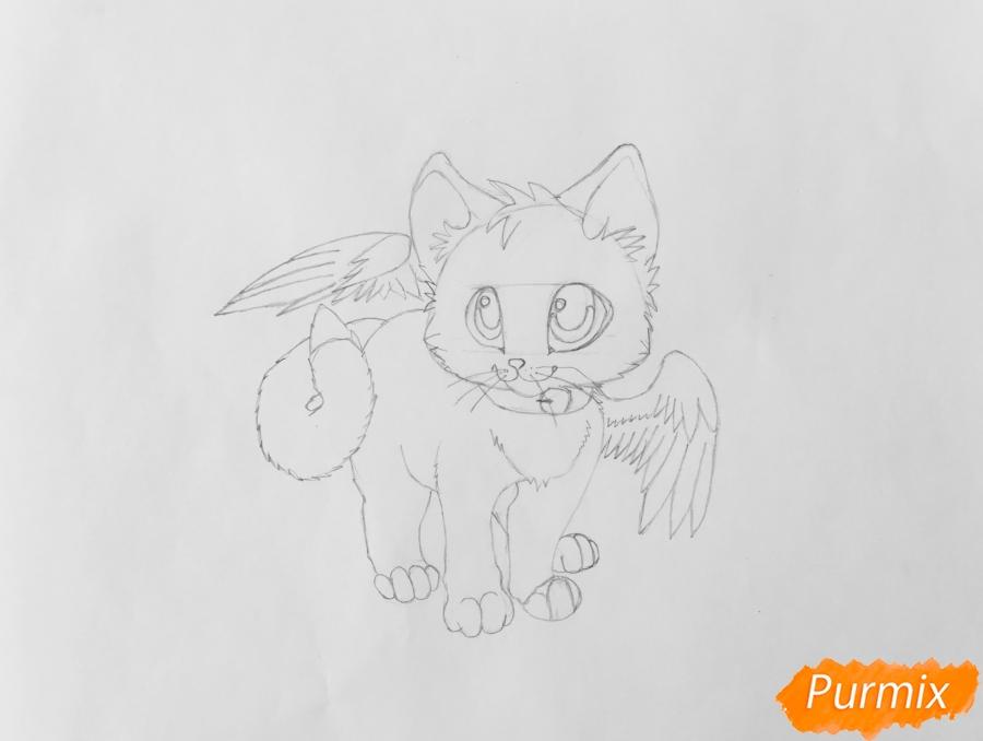 Рисуем аниме барсёнка с крыльями - шаг 6