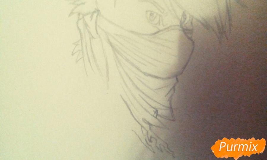 Рисуем и раскрасить фурри парня карандашами - шаг 3