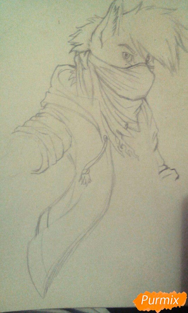 Рисуем и раскрасить фурри парня карандашами - шаг 4