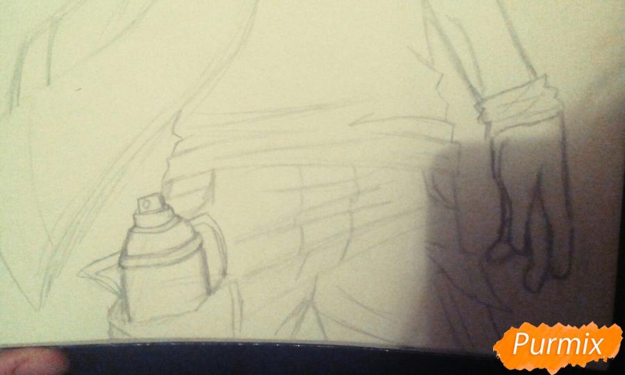 Рисуем и раскрасить фурри парня карандашами - шаг 6