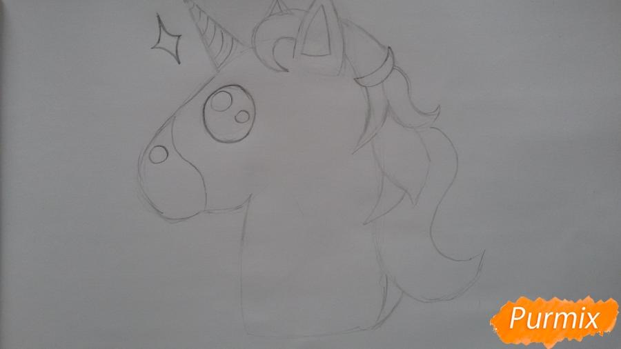 Рисуем голову единорожка - фото 4