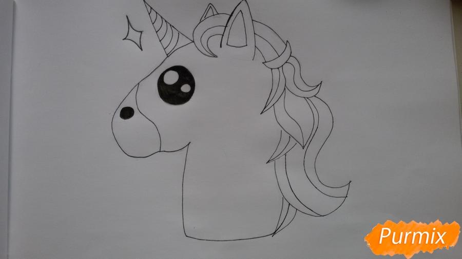 Рисуем голову единорожка - фото 5