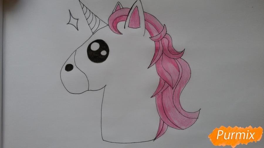 Рисуем голову единорожка - фото 6