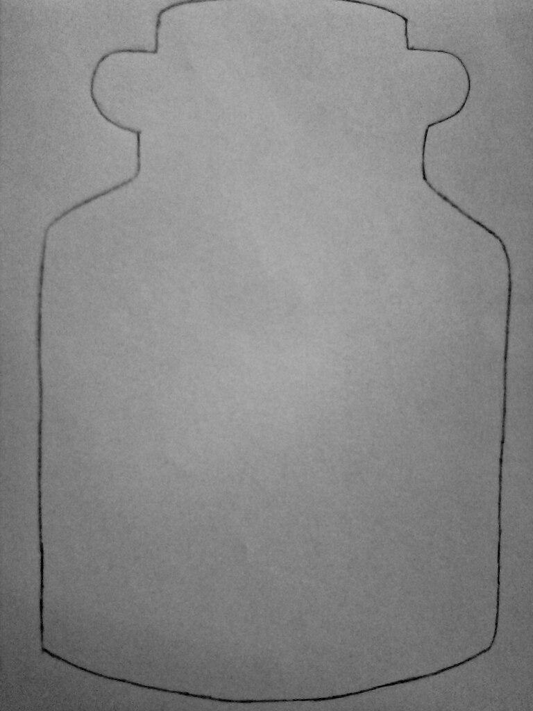 Как нарисовать безглазого Джека в банке карандашом поэтапно - шаг 1