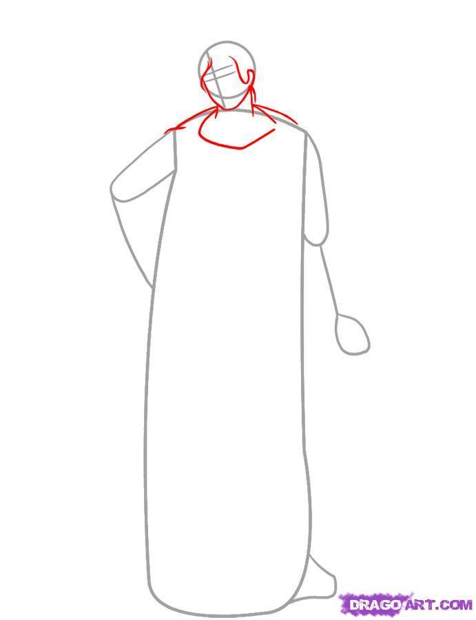 Рисуем богиню Афину