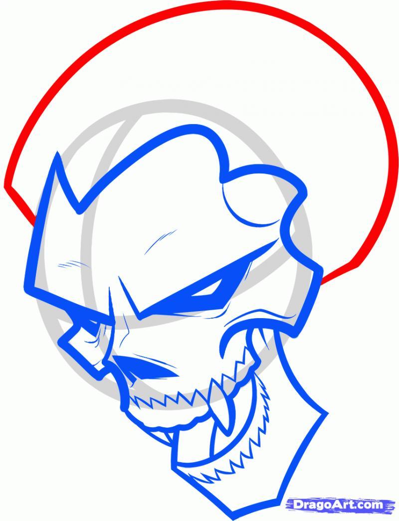 Рисуем череп вампира