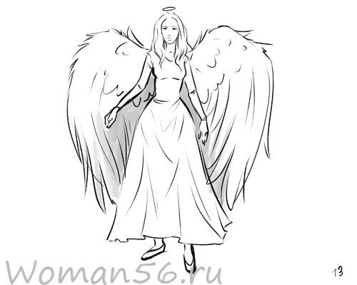 Как нарисовать девушку-ангела