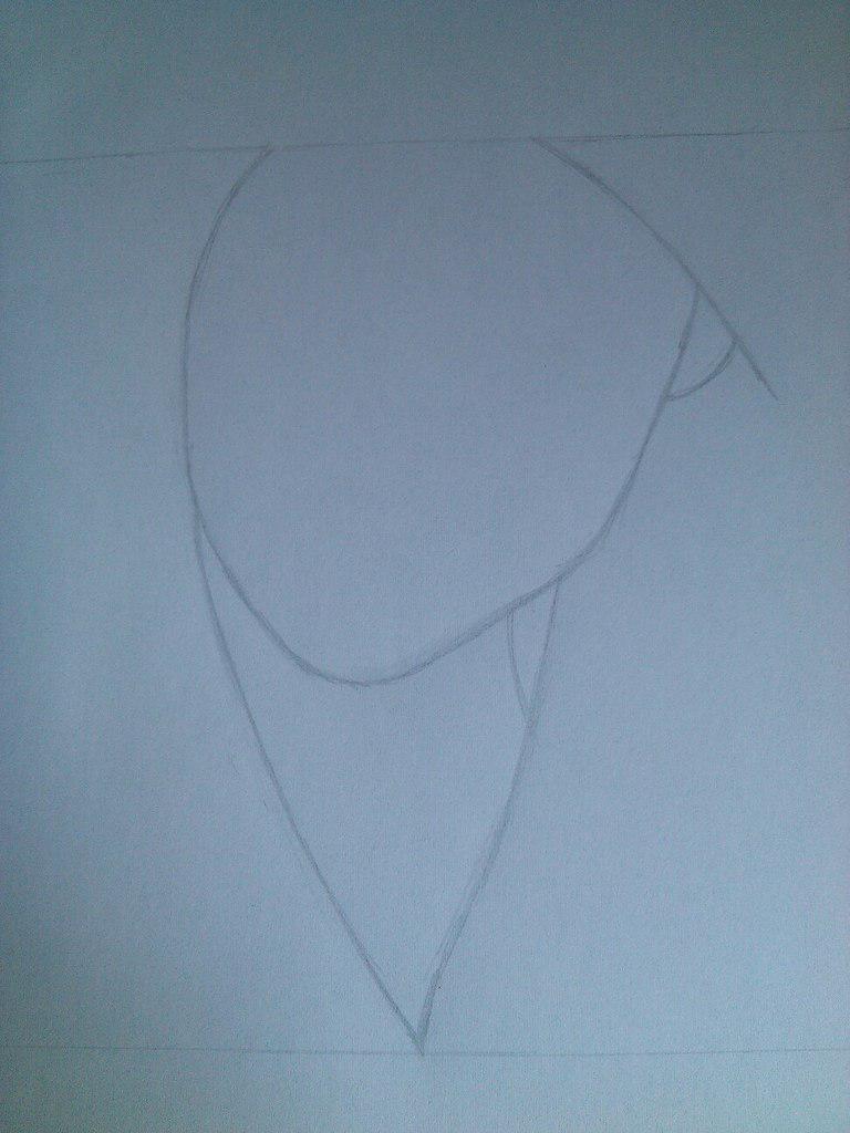 Как нарисовать девушку с черными глазами поэтапно - шаг 1