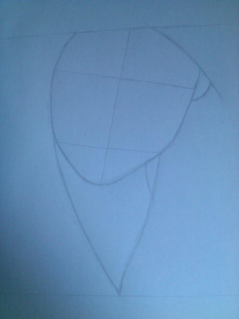 Как нарисовать девушку с черными глазами поэтапно - шаг 2