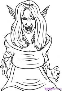 Фото девушку вампира карандашом