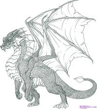 Рисунок дракона, пошаговая инструкция