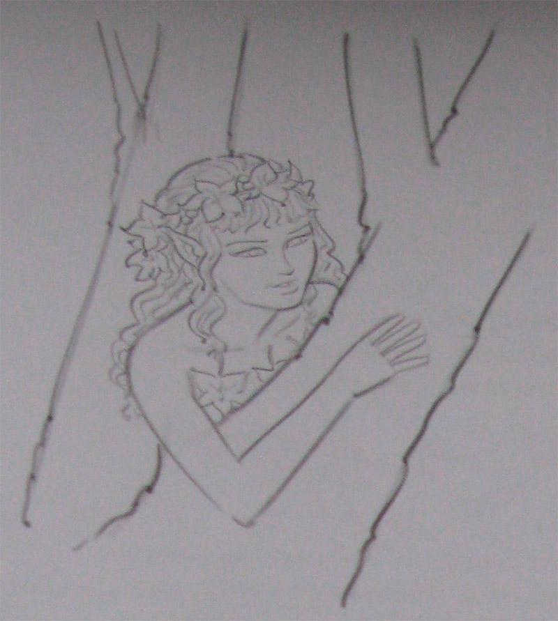 Как нарисовать Дриаду карандашом поэтапно