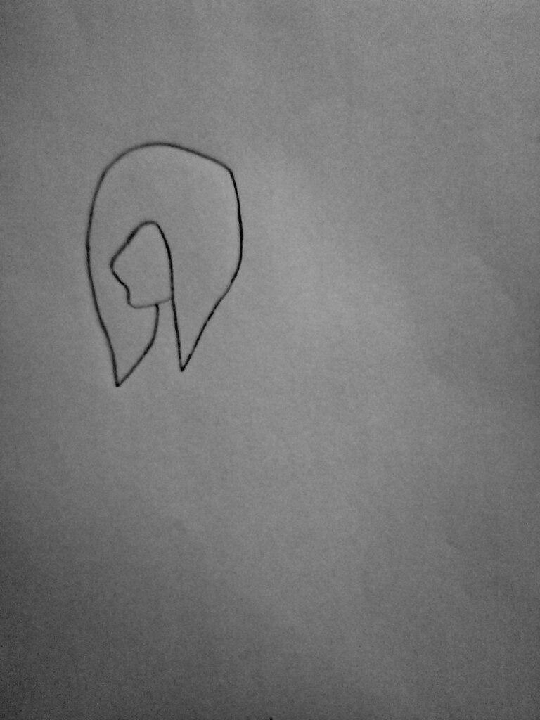Как нарисовать Джеффа и Слендермена карандашом поэтапно - шаг 1
