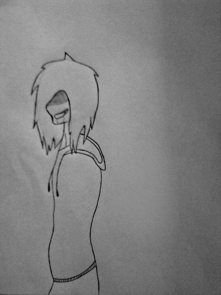 Как нарисовать Джеффа и Слендермена карандашом поэтапно - шаг 4