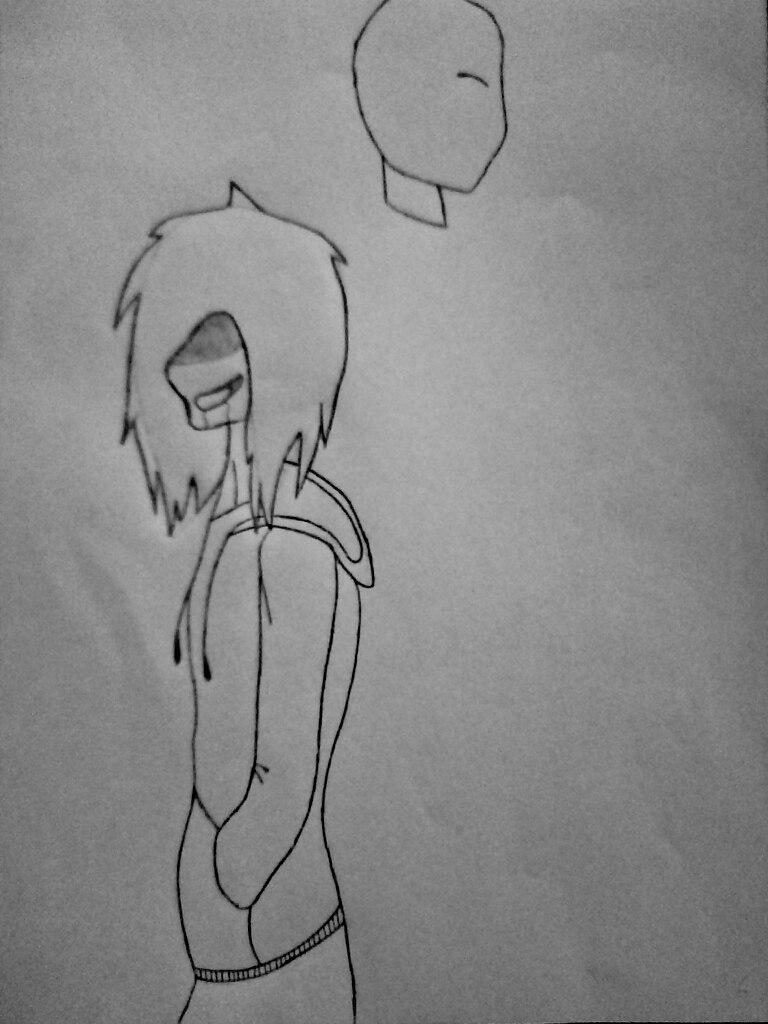 Как нарисовать Джеффа и Слендермена карандашом поэтапно - шаг 6