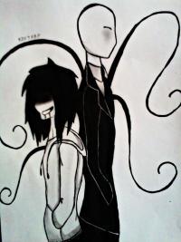 Рисунок Джеффа и Слендермена