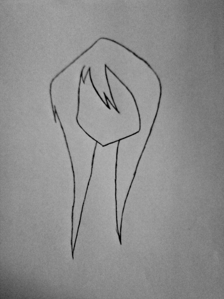 Как нарисовать Джеффа карандашом поэтапно - шаг 1