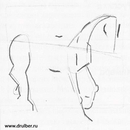 Рисуем реалистичного единорога - шаг 1