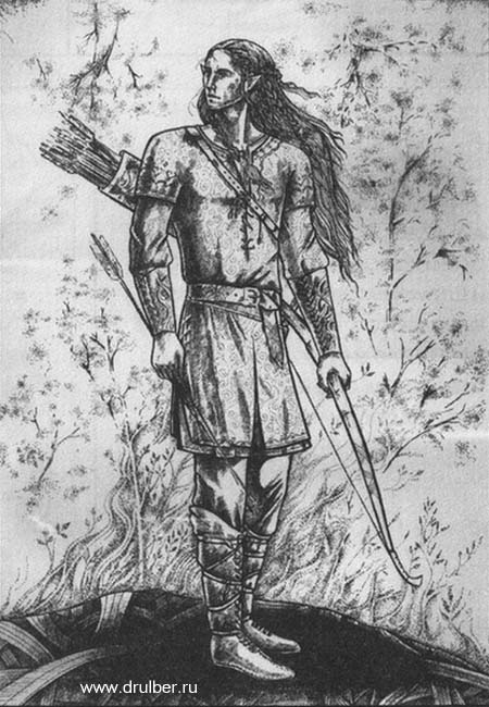 Рисуем Эльфа с луком - фото 9