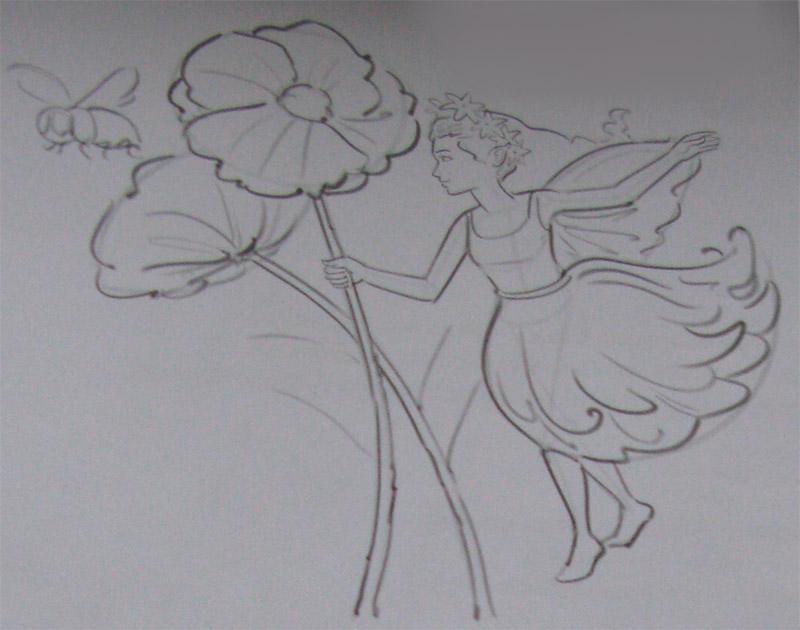 Рисуем Фею цветов