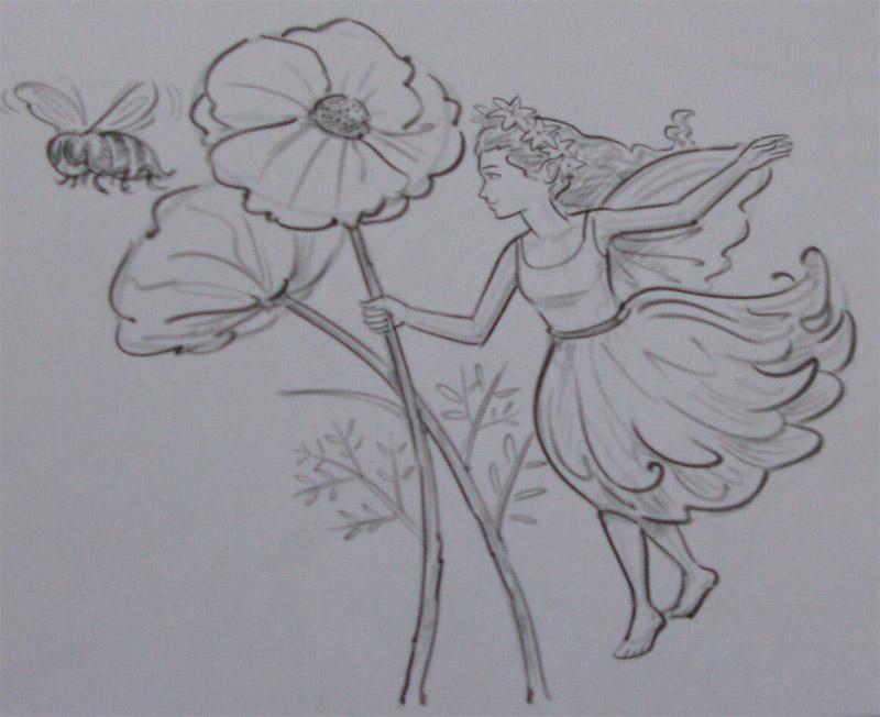 учимся рисовать карандашом цветы: