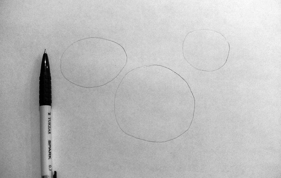 Рисуем фэнтези волчицу в полете карандашами - шаг 1