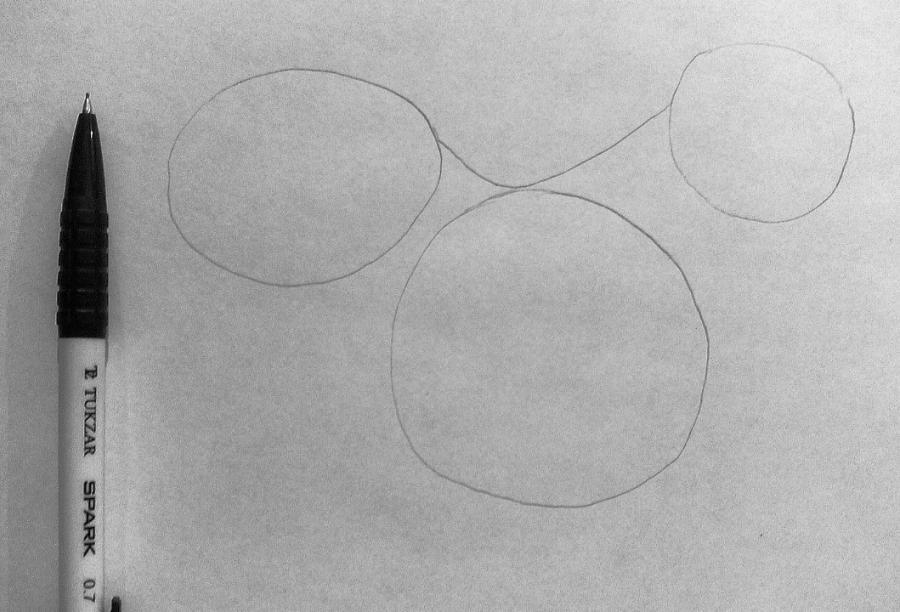 Рисуем фэнтези волчицу в полете карандашами - шаг 2