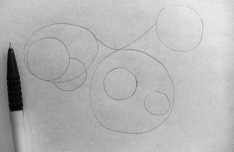 Рисуем фэнтези волчицу в полете карандашами - шаг 3