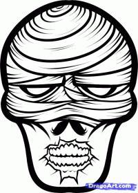 голову мумии карандашом