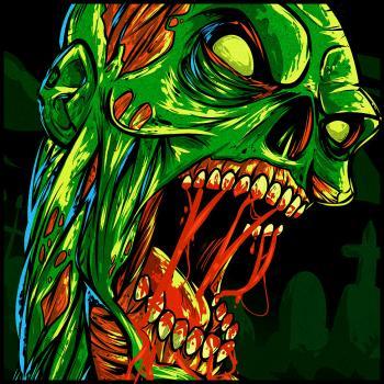 Как нарисовать голову зомби поэтапно