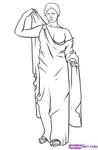 Фото греческого Бога карандашом