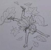 эльфа лесовика карандашом