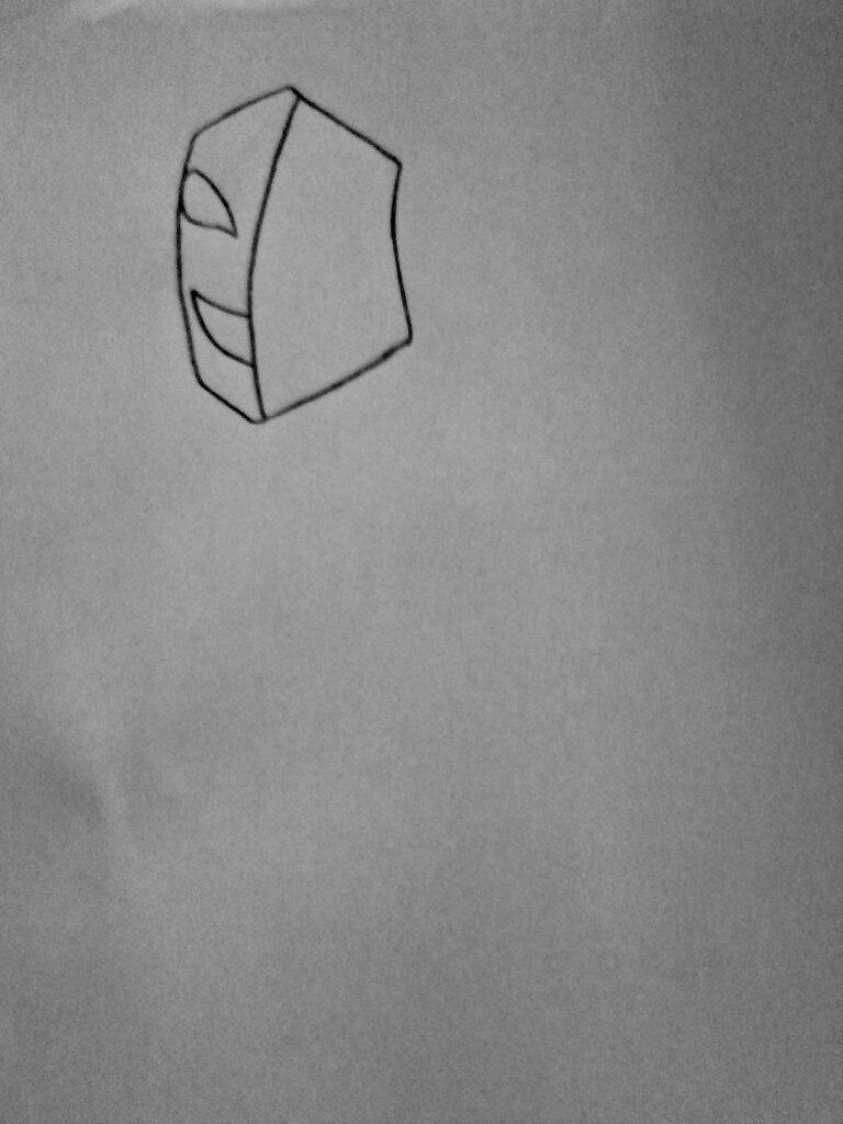 Как нарисовать КагеКао из крипипасты карандашом поэтапно - шаг 1